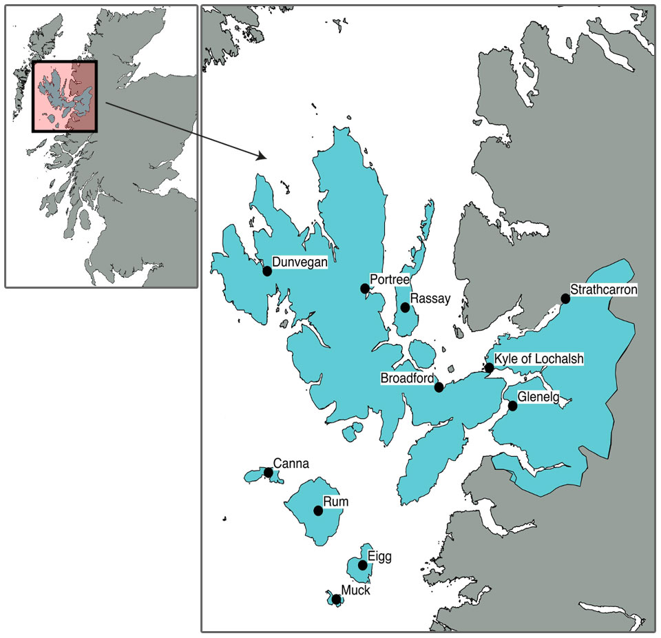 Skye and Lochalsh Rivers Trust location map